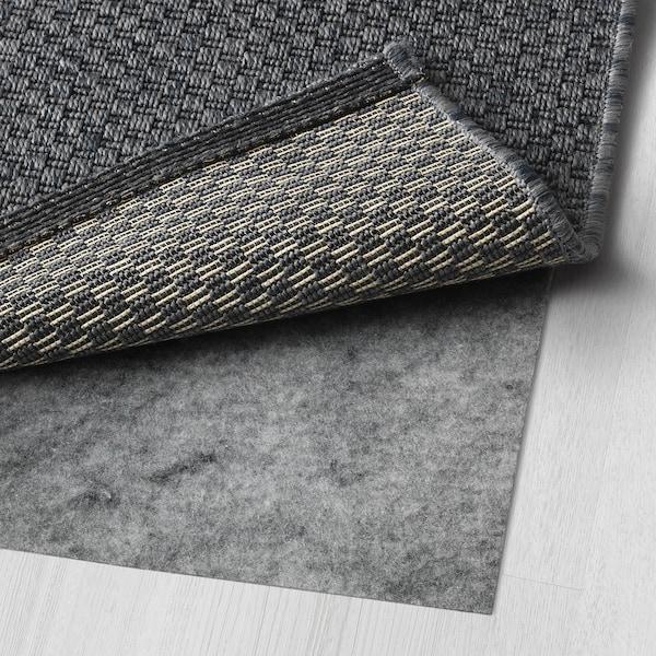 莫鲁 平织地毯,室内/户外 深灰色 230 厘米 160 厘米 5 毫米 3.68 平方米 1385 克/平方米