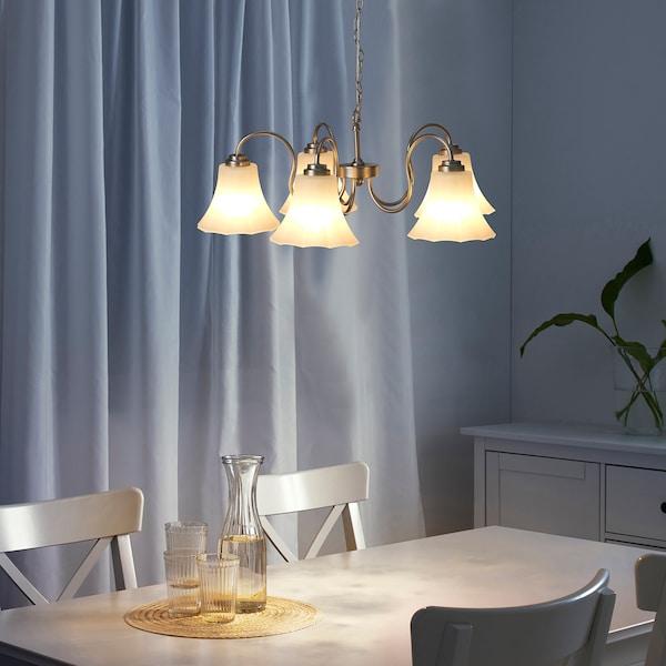 IKEA 木格博 枝形灯,5枝