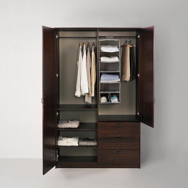 穆斯肯 双门衣柜带3个抽屉 褐色 124.2 厘米 60.0 厘米 200.5 厘米 53 厘米 53 厘米 7.5 厘米 20 公斤 12 公斤