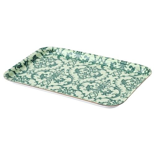姆斯提赫 托盘 图案/绿色 28 厘米 20 厘米