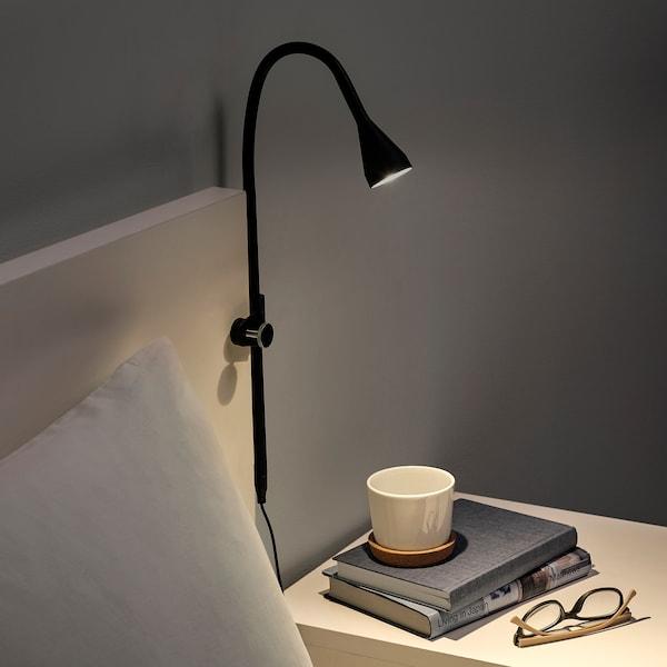 纳林格 LED壁装/夹式射灯 黑色 220 流明 63 厘米 2.0 米 2.6 瓦特 25000 小时