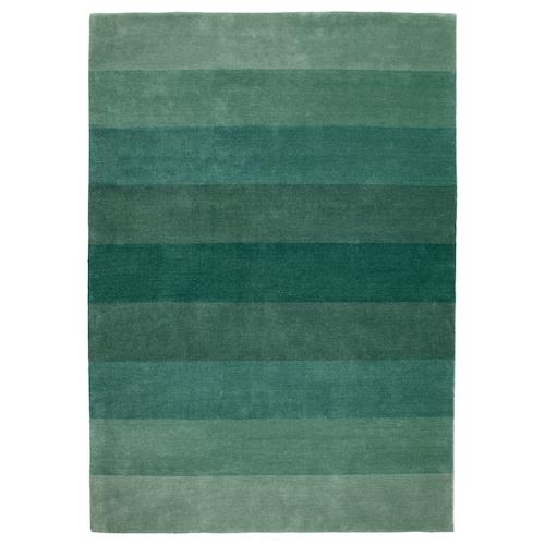 尼德布 短绒地毯, 手工制作/绿色, 170x240 厘米