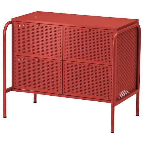 尼克比 4屉柜 红色 84 厘米 49 厘米 70 厘米 34.0 厘米 35.5 厘米 17.5 厘米