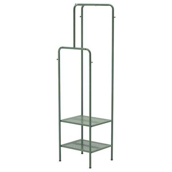 NIKKEBY 尼克比 晒衣架, 灰绿色, 45x170 厘米