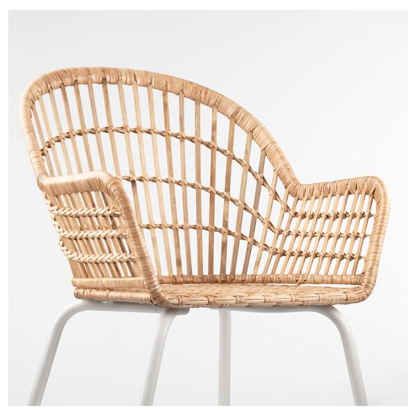尼尔索乌 扶手椅 藤条/白色 110 公斤 57 厘米 57 厘米 82 厘米 42 厘米 40 厘米 44 厘米