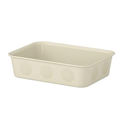 NOJIG 诺伊格 收纳盒, 塑料/米黄色, 15x20x5 厘米