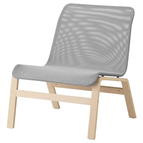 诺姆拉 休闲椅 桦木贴面/灰色 64 厘米 75 厘米 75 厘米 59 厘米 46 厘米 40 厘米