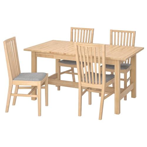 诺顿 / 诺纳斯 一桌四椅 桦木/艾桑达 灰色 155 厘米 210 厘米 90 厘米 74 厘米