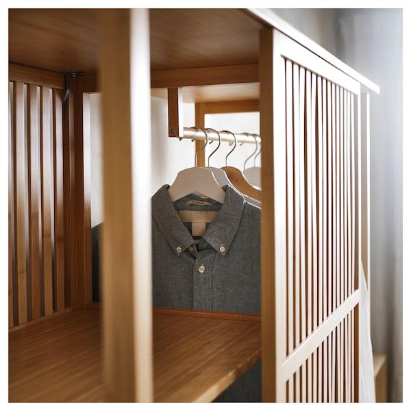 NORDKISA 诺德希萨 开放式衣柜,带滑门, 竹, 120x186 厘米