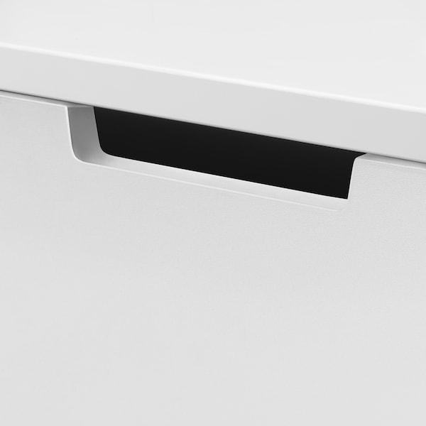 诺德里 七斗抽屉柜 白色/煤黑色 80 厘米 47 厘米 122 厘米 37 厘米