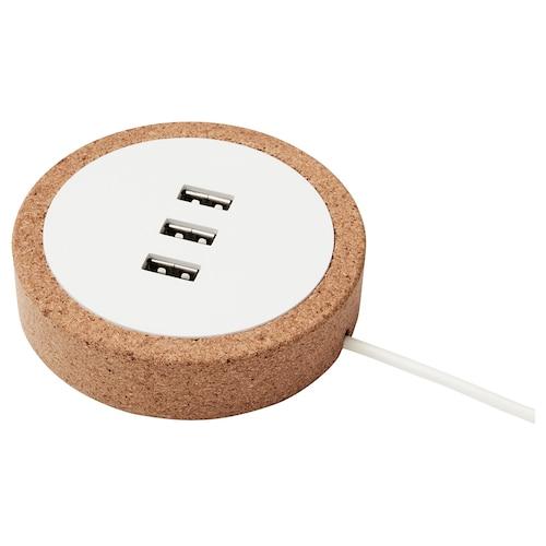 诺德马克 USB充电器 白色/软木 2.0 厘米 8.5 厘米 1.9 米