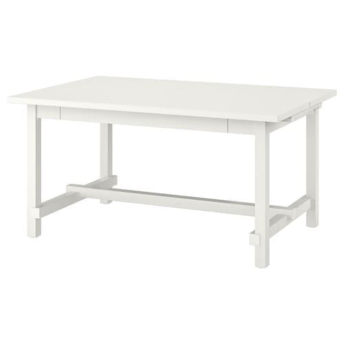 诺德维肯 伸缩型餐桌 白色 152 厘米 223 厘米 95 厘米 75 厘米