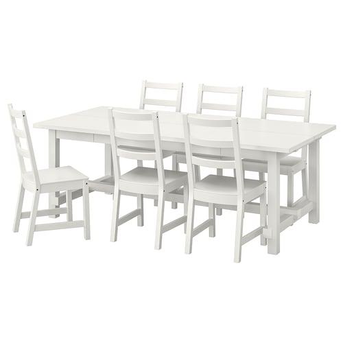 诺德维肯 / 诺德维肯 桌子和6把椅子 白色/白色 210 厘米 289 厘米 105 厘米