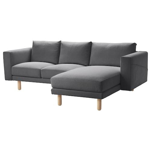 诺斯伯 三人沙发 带贵妃椅/芬斯塔 深灰/桦木 231 厘米 85 厘米 88 厘米 157 厘米 129 厘米 18 厘米 60 厘米 43 厘米
