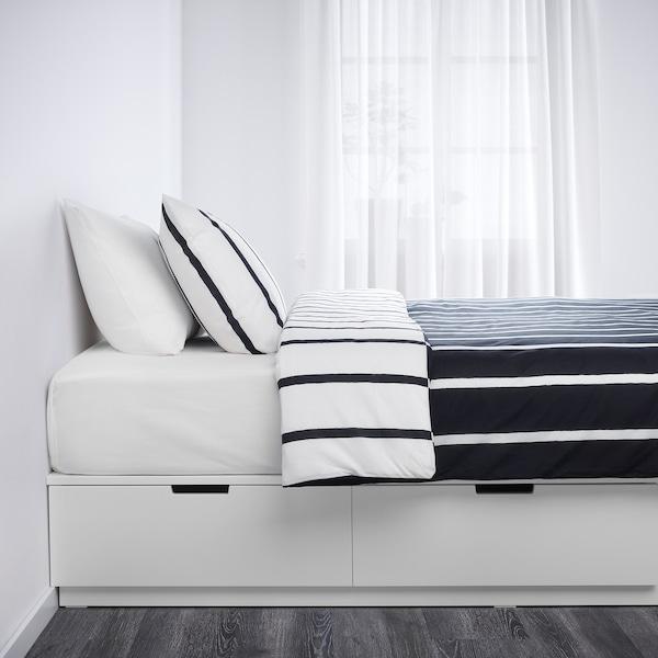 诺德里 床架带抽屉, 白色, 160x202 cm
