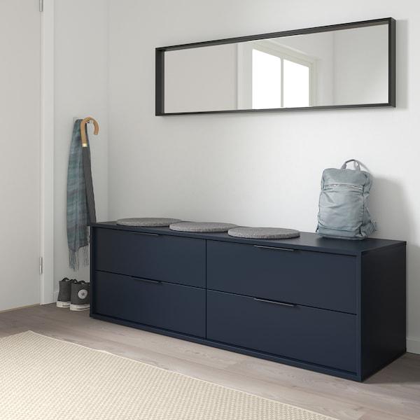 诺德梅拉 4屉柜, 蓝黑色, 159x50 厘米