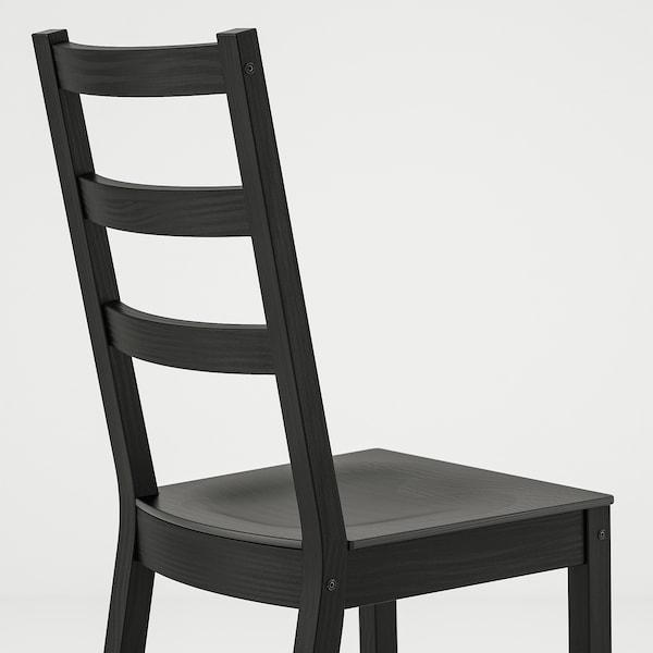 诺德维肯 / 诺德维肯 一桌四椅, 黑色/黑色, 152/223x95 厘米