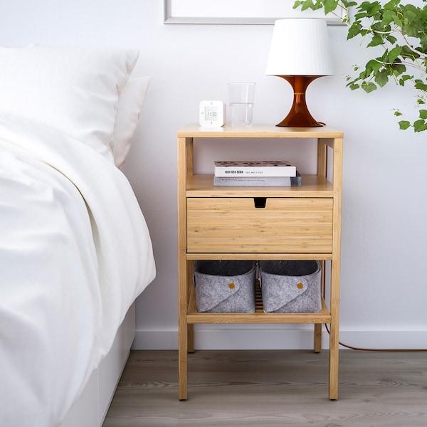 诺德希萨 床头桌, 竹, 40x40 厘米