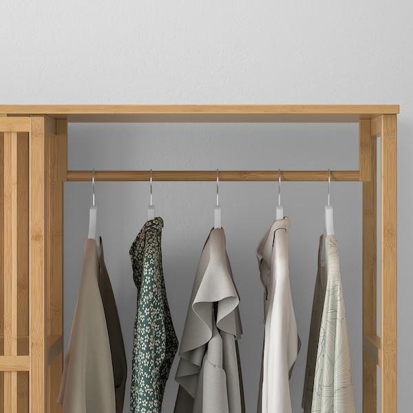 诺德希萨 开放式衣柜,带滑门, 竹, 120x186 厘米