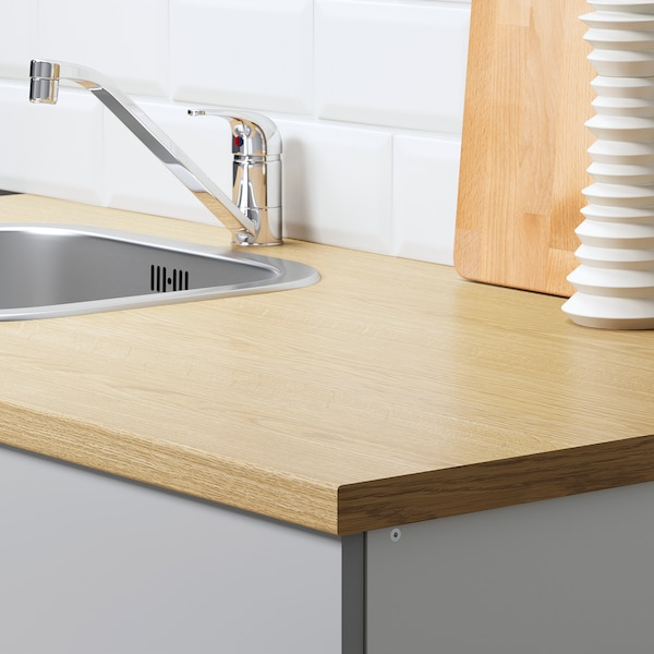 诺克胡 底柜,带柜门和抽屉, 灰色, 120 厘米