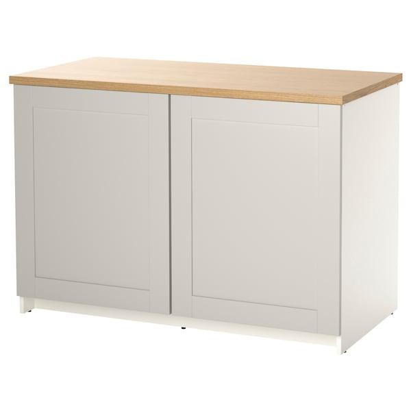 诺克胡 底柜和柜门, 灰色, 120x85 厘米