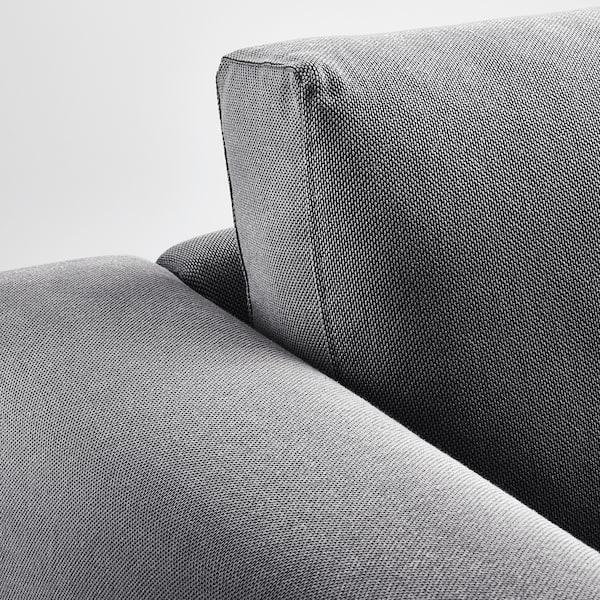 诺斯伯 四人沙发, 带贵妃椅/芬斯塔 深灰/桦木