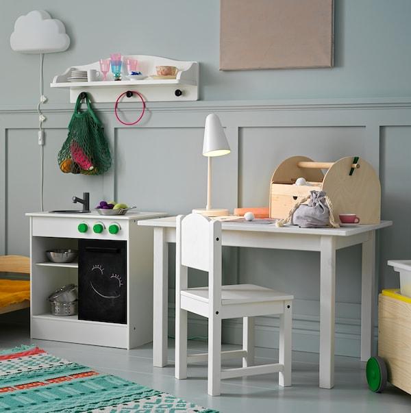努博卡 玩具厨房带滑门 白色 49 厘米 30 厘米 50 厘米