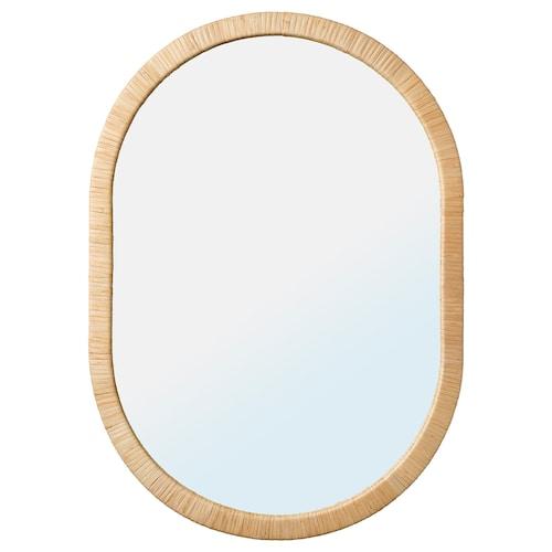欧普黑 镜子, 藤条, 54x77 厘米