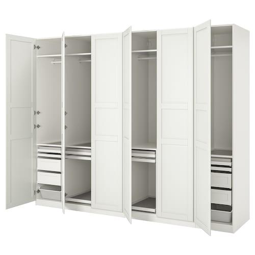 帕克思 / 提赛尔 衣柜组合, 白色/白色, 300x60x236 厘米
