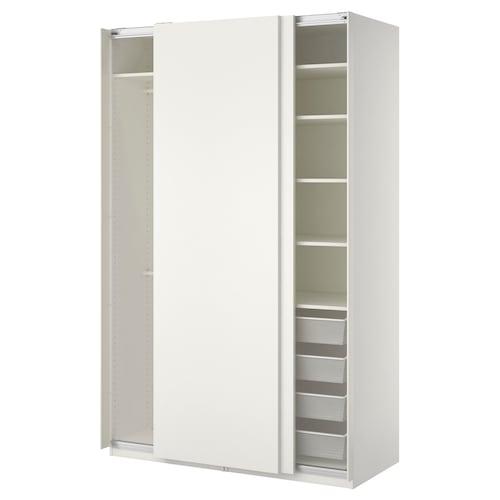 帕克思 衣柜, 白色/哈斯维 白色, 150x66x236 厘米