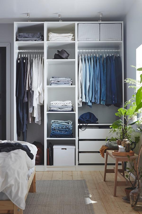 帕克思 衣柜框架, 白色, 75x58x236 厘米
