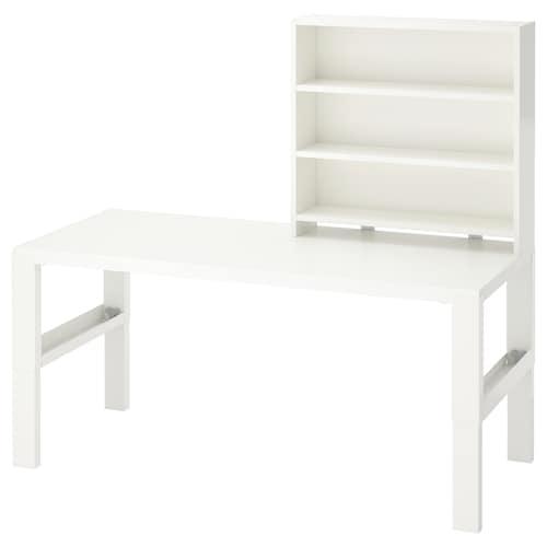 佩尔 桌含搁架件 白色 128 厘米 58 厘米 119 厘米 132 厘米 50 公斤