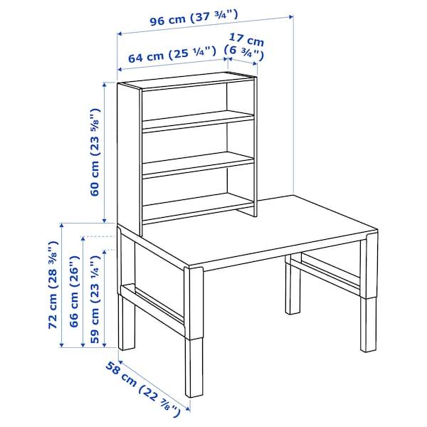佩尔 桌含搁架件 白色/蓝色 96 厘米 58 厘米 119 厘米 132 厘米 50 公斤