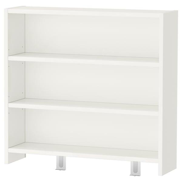 PÅHL 佩尔 桌含搁架件, 白色, 128x58 厘米