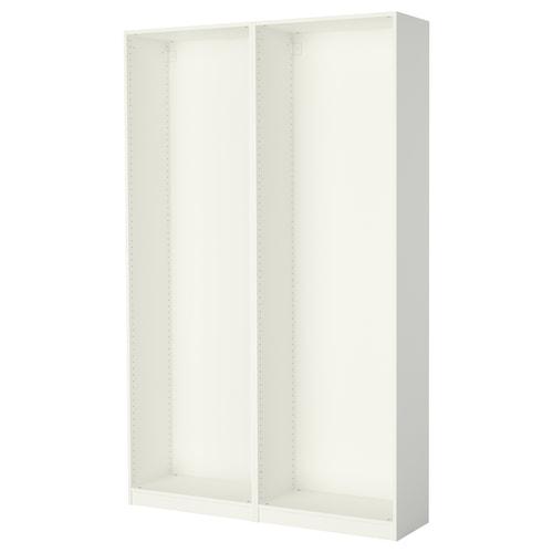 帕克思 2件衣柜框架 白色 149.6 厘米 35.0 厘米 236.4 厘米