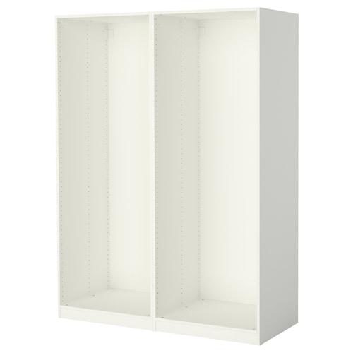 帕克思 2件衣柜框架 白色 149.6 厘米 58.0 厘米 201.2 厘米