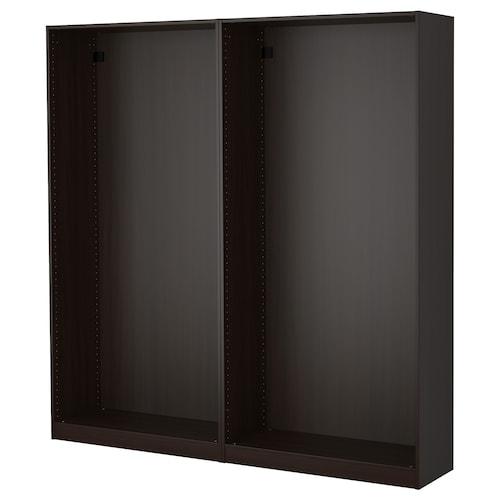 帕克思 2件衣柜框架 黑褐色 199.6 厘米 35.0 厘米 201.2 厘米