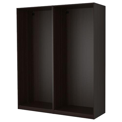 帕克思 2件衣柜框架 黑褐色 199.6 厘米 58.0 厘米 236.4 厘米