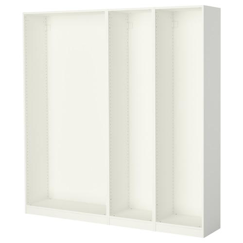 帕克思 3件衣柜框架 白色 199.6 厘米 35.0 厘米 201.2 厘米
