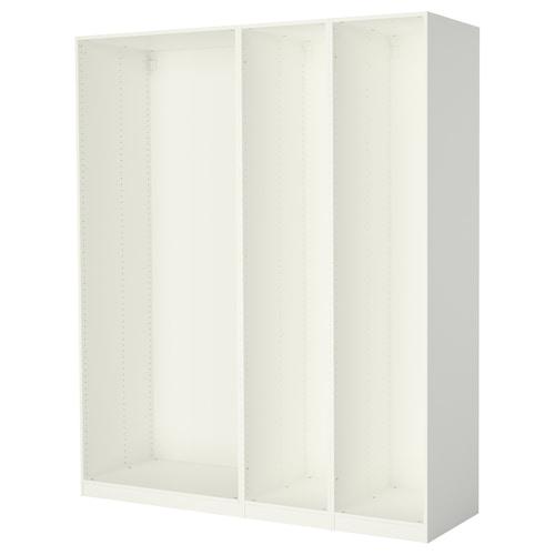 帕克思 3件衣柜框架 白色 199.6 厘米 58.0 厘米 236.4 厘米