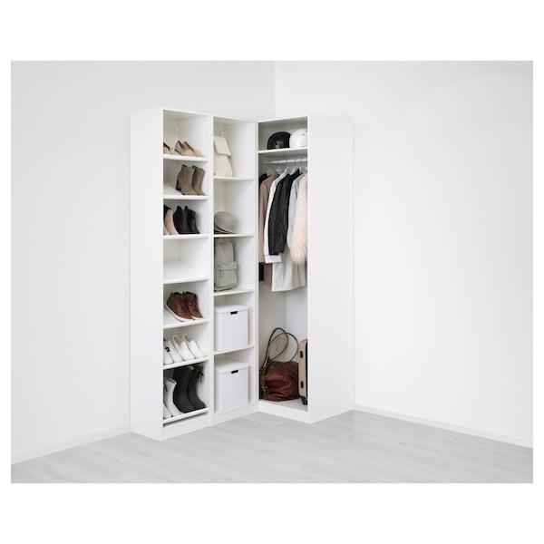 帕克思 转角衣橱 白色/弗里伯加 淡米色 236.4 厘米 87.9 厘米 160.3 厘米