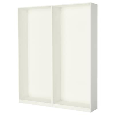 PAX 帕克思 2件衣柜框架, 白色, 200x35x236 厘米