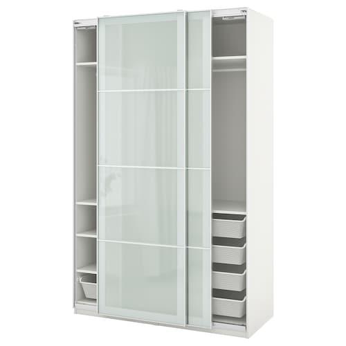 帕克思 / 赛肯 衣柜组合 白色/毛玻璃 150.0 厘米 66.0 厘米 236.4 厘米