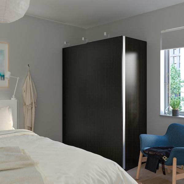 帕克思 衣柜 黑褐色/哈斯维 黑褐色白蜡木纹 150.0 厘米 66.0 厘米 201.2 厘米