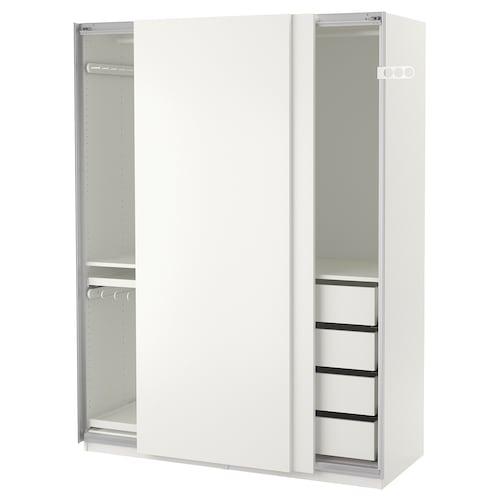 帕克思 衣柜 白色/哈斯维 白色 150 厘米 66 厘米 201.2 厘米