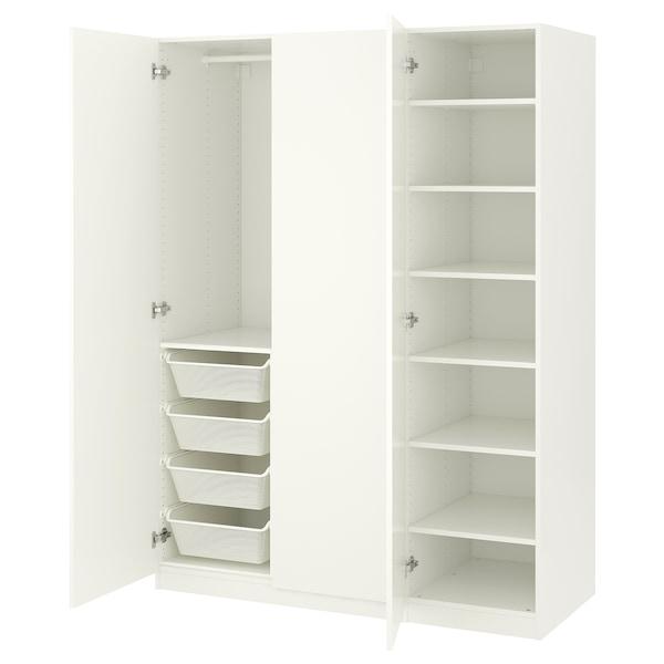 帕克思 衣柜 白色/弗桑 白色 150 厘米 60 厘米 201.2 厘米