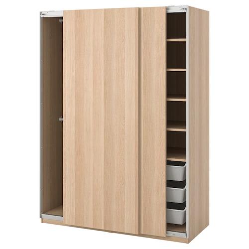 帕克思 衣柜 哈斯维/仿白色橡木纹 150.0 厘米 66.0 厘米 201.2 厘米