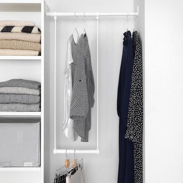 PLATSA 普拉萨 衣柜, 白色/福纳 白色, 95-120x42x181 厘米