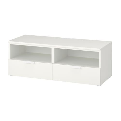 普拉萨 带抽屉电视柜 白色/福纳 白色 30 公斤 120 厘米 44 厘米 44 厘米 55 英寸