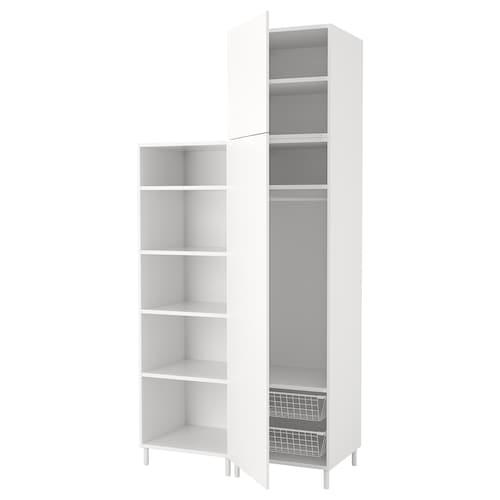 普拉萨 衣柜 白色/福纳 白色 120 厘米 57 厘米 251 厘米